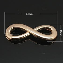 Infinity tussenzetsel 34 x 13 x 4mm Rose gold