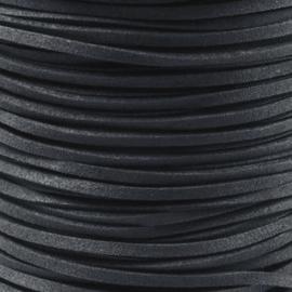2 meter Leer Imitatie Suède Dark Grey
