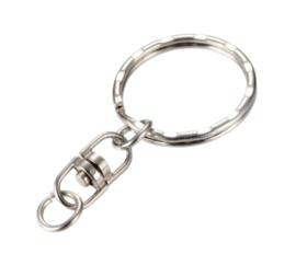 5 x tussenstuk sleutelhanger ring en hanger 20mm
