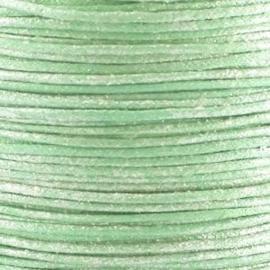 10 meter Waxkoord 1.0 mm Light Turquoise Spray Metallic