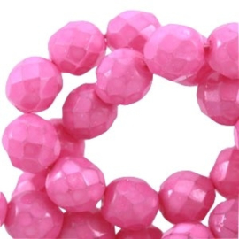 15 x Facet kralen Tjechisch DQ pastel 6mm Dewberry pink
