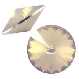 1x BQ quality 1122- Rivoli puntsteen12 mm Light topaz opal ca. 12 mm (1122)
