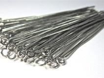 100 stuks kettelstiften 20mm nikkelkleur