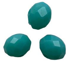 20 x Briolette top facet kristal kralen 4x3 mm gat 1 mm zee groen