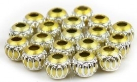 10 x Prachtige aluminium kraal 16mm