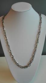 Per stuk metalen ketting platinum Ca. 1meter lang zonder sluiting