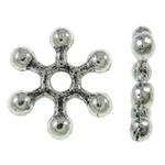 25 metalen Snowflake tussenzetsel spacer kralen 10 x 2mm gat: c.a. 1,5mm