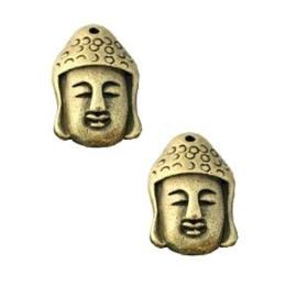 1 x DQ Buddha bedel large Brons 30x20 mm 30x20 mm