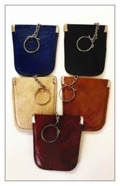 5 x Sleutel etui - faux leder kleur mix model A