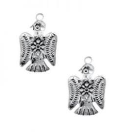10 x Metalen Bedel Bird Antiek Zilver 20x14 mm