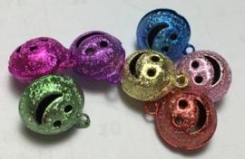 10 stuks assortiment stardust belletjes lachend gezichtje 14 mm mix