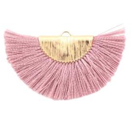 Kwastjes hanger Gold-primrose pink