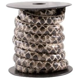 50cm Dreamz gestikt imitatieleer 10mm Snake brown