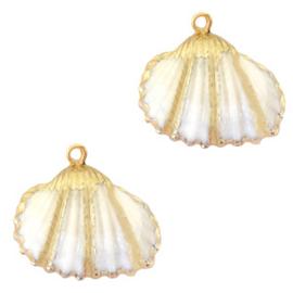 1 x Schelp hangers specials Kokkel Gold-White