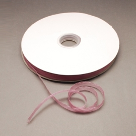 1 meter Organza lint 10mm breed per meter, leuk voor zeepkettingen!! Oud Roze