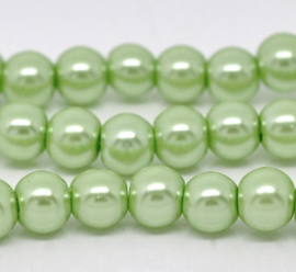40 x prachtige glasparels kleur: green 6mm