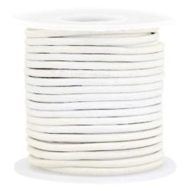 50cm  DQ Leer rond 2 mm White