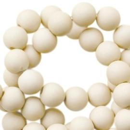 40 x 6 mm acryl kralen mat Olive beige