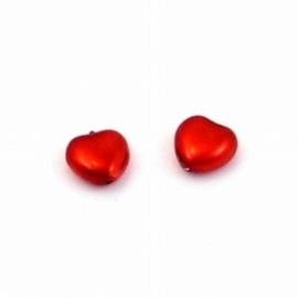10x Rode Hartvormige kraal 8x8m
