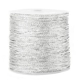 1 rol 90 meter Macramé draad metallic 0.5mm Silver (kies voor pakketpost)