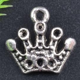 6 x Tibetaans zilveren kroontje 12mm x 12mm