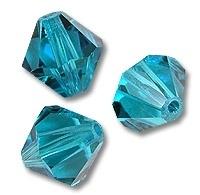 10 x Preciosa Kristal Bicone 6mm Blue