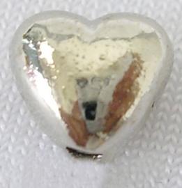 10 stuks tibetaans zilveren tussenzetsels/kralen hart 6mm gat: 1mm