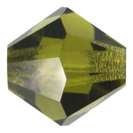 10  x Preciosa Kristal Bicone ca. 8mm gat: 1mm