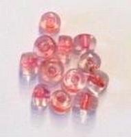 10 Stuks Glaskraal tonnetje oranje 7 mm