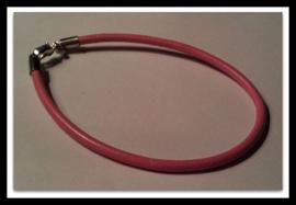 Per stuk Armband European-style oud Roze leer 19 cm