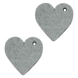 1 x DQ leer hangers hart 25mm Grey
