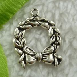 4 x Prachtige Tibetaans zilveren krans 25 x 19mm