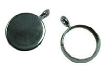 2 x cabochon houder Y binnenzijde 10 mm oogje 2,8 mm