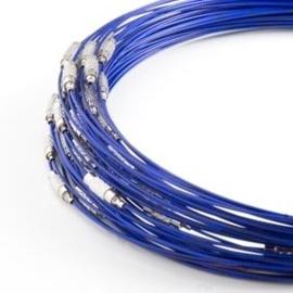 Spang lengte 46cm donker blauw