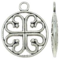 Tibetaans zilveren bedeltje 15 x 18 x 2mm