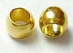 100 stuks gouden  knijpkralen c.a. 3 mm gat 2mm