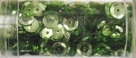 Gutermann pailletten 6mm cup lichtgroen 9 gr