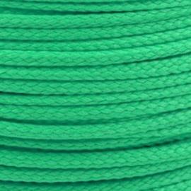 1 meter sieradenkoord c.a. 5 x 3mm kleur Poison green