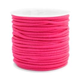 1 meter Gekleurd elastisch draad 2.5mm Fuchsia pink