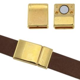 1 x DQ metaal magneetslot Ø10×2.2mm Goud
