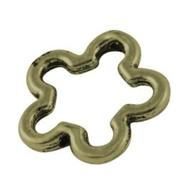 5 stuks metalen tusselzetsel 16 x 16 x 2mm Gat: 0,5mm