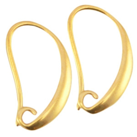 Per paar DQ metaal oorhanger Goud (nikkelvrij)