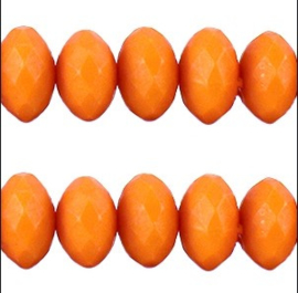 15 Stuks oranje acrylkralen met facet 10 x 8mm gat 1mm