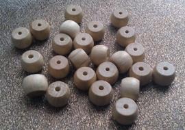 10 Stuks houten kraal naturel 9 x 12 mm