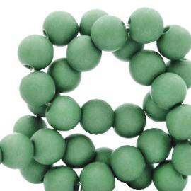 30 x  8 mm acryl kralen Shamrock green
