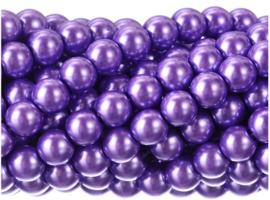 20 x prachtige glasparel kleur: Lila 12mm