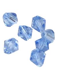 20 x Pesciosa bicone kristal kralen 4 mm gat 1 mm helder blauw
