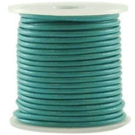50 cm DQ Leer 3 mm Diep Turquoise