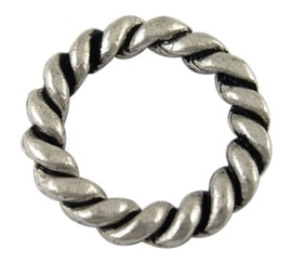 5 x gesloten tussenzetsel ring 19 x 3mm gat: 13mm zilver