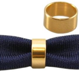 1 x  DQ metaal schuiver ring goud 3×6 mm(Ø 5mm)